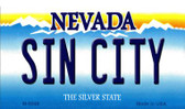 Sin City Nevada Background Novelty Metal Magnet