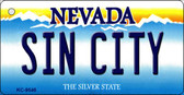 Sin City Nevada Background Novelty Key Chain