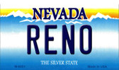 Reno Nevada Background Novelty Metal Magnet