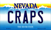 Craps Nevada Background Novelty Metal Magnet