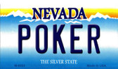 Poker Nevada Background Novelty Metal Magnet
