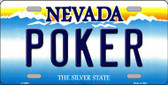 Poker Nevada Background Novelty Metal License Plate