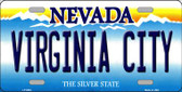 Virginia City Nevada Background Novelty Metal License Plate
