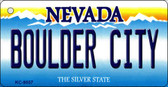 Boulder City Nevada Background Novelty Key Chain