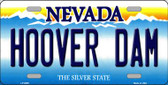 Hoover Dam Nevada Background Novelty Metal License Plate