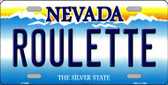 Roulette Nevada Background Novelty Metal License Plate
