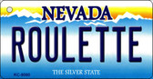 Roulette Nevada Background Novelty Key Chain