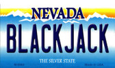 Black Jack Nevada Background Novelty Metal Magnet