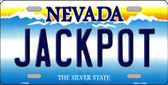 Jack Pot Nevada Background Novelty Metal License Plate