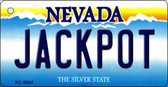 Jack Pot Nevada Background Novelty Key Chain