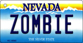 Zombie Nevada Background Novelty Key Chain