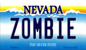 Zombie Nevada Background Novelty Metal Magnet