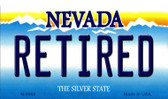 Retired Nevada Background Novelty Metal Magnet