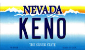 Keno Nevada Background Novelty Metal Magnet