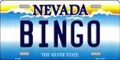 Bingo Nevada Background Novelty Metal License Plate