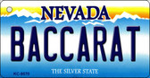 Baccarat Nevada Background Novelty Key Chain
