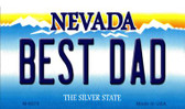 Best Dad Nevada Background Novelty Metal Magnet