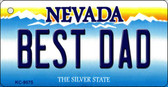 Best Dad Nevada Background Novelty Key Chain