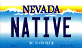 Native Nevada Background Novelty Metal Magnet