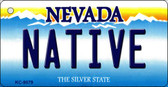 Native Nevada Background Novelty Key Chain