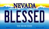 Blessed Nevada Background Novelty Metal Magnet