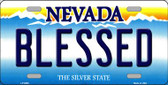 Blessed Nevada Background Novelty Metal License Plate