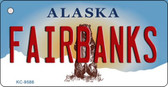Fairbanks Alaska State Background Novelty Key Chain
