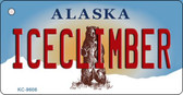 Ice Climber Alaska State Background Novelty Key Chain