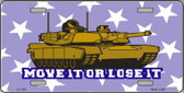 Move It Or Lose It Metal Novelty License Plate