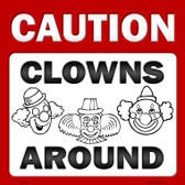 Clowns Around Novelty Metal Square Sign