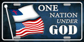 One Nation Under God Novelty Metal License Plate