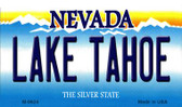 Lake Tahoe Nevada Background Novelty Metal Magnet