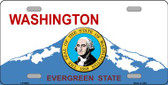 Washington Background With Seal Novelty Metal License Plate