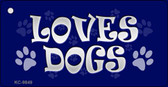 Loves Dogs Novelty Metal Key Chain
