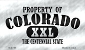 Property Of Colorado Novelty Metal Magnet