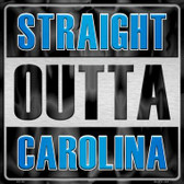 Straight Outta Carolina Novelty Metal Square Sign
