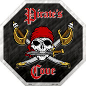 Pirates Cove Metal Novelty Stop Sign