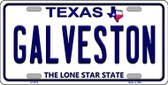 Galveston Texas Background Novelty Metal License Plate