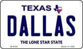 Dallas Texas Background Novelty Metal Magnet
