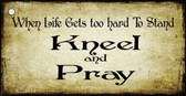 Kneel And Pray Novelty Metal Key Chain