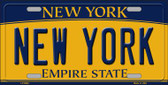 New York Background Novelty Metal License Plate