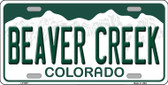 Beaver Creek Colorado Background Novelty Metal License Plate