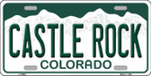 Castle Rock Colorado Background Novelty Metal License Plate