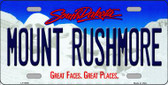 Mount Rushmore South Dakota Background Novelty Metal License Plate