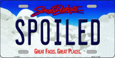 Spoiled South Dakota Background Novelty Metal License Plate