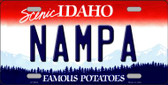 Nampa Idaho Background Novelty Metal License Plate