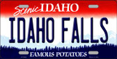 Idaho Falls Idaho Background Novelty Metal License Plate