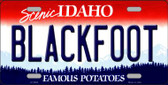 Blackfoot Idaho Background Novelty Metal License Plate