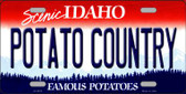 Potato Country Idaho Background Novelty Metal License Plate