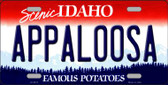 Appaloosa Idaho Background Novelty Metal License Plate